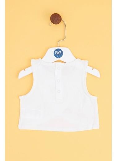 BG Baby Kız Bebek Ekru Bluz 19SS0BG2617 Ekru